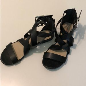 JustFab Strappy Black Sandals